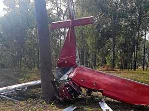 PHOTOS: Pilot's life saved by crashing plane into tree