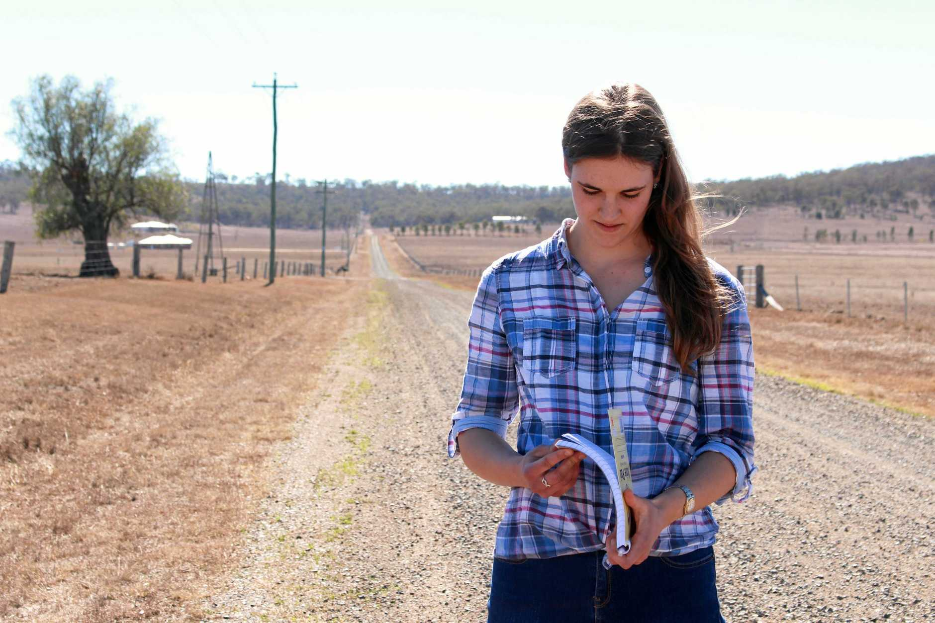 18-year-old Melanie O'Dea is has written a written a heartfealt poem that goes out to farmers struggling through drought.