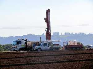 Drilling rig spotted at new hospital site