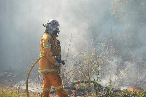 A blaze is burning at Upper Corindi.