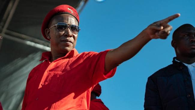 EFF leader Julius Malema has been accused of whipping up racial violence. Picture: Alex Barry