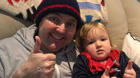 Jarrod Lyle with his daughter Jemma. Picture: Instagram