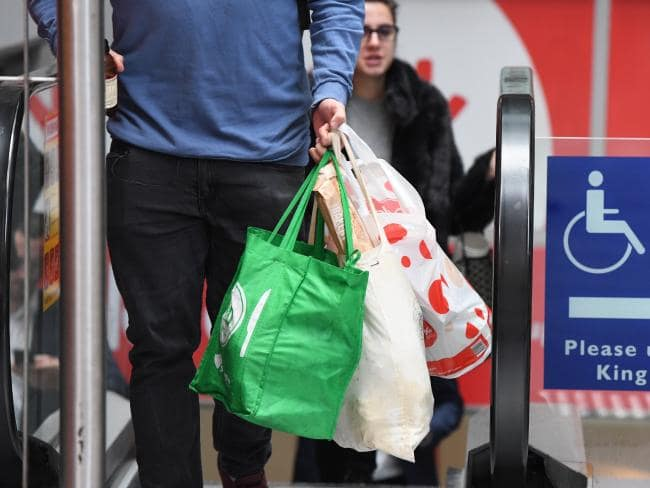 Customers who bring their own bags are being rewarded with free Flybuys points. Picture: AAP