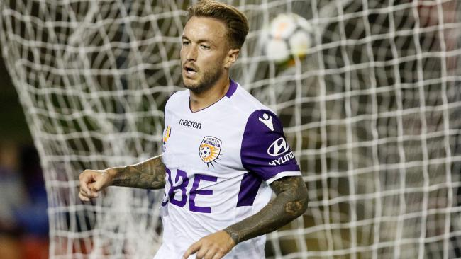Adam Taggart moved to the Roar from Perth glory this season. Picture: AAP