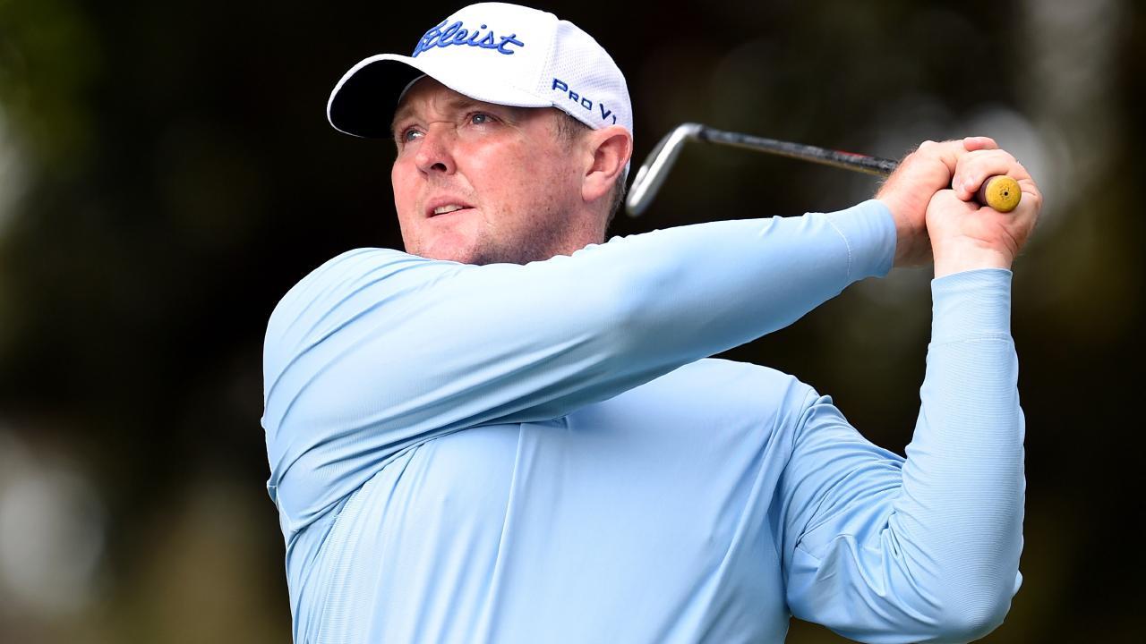 Australian golfer Jarrod Lyle in action during the Australian PGA Championship.