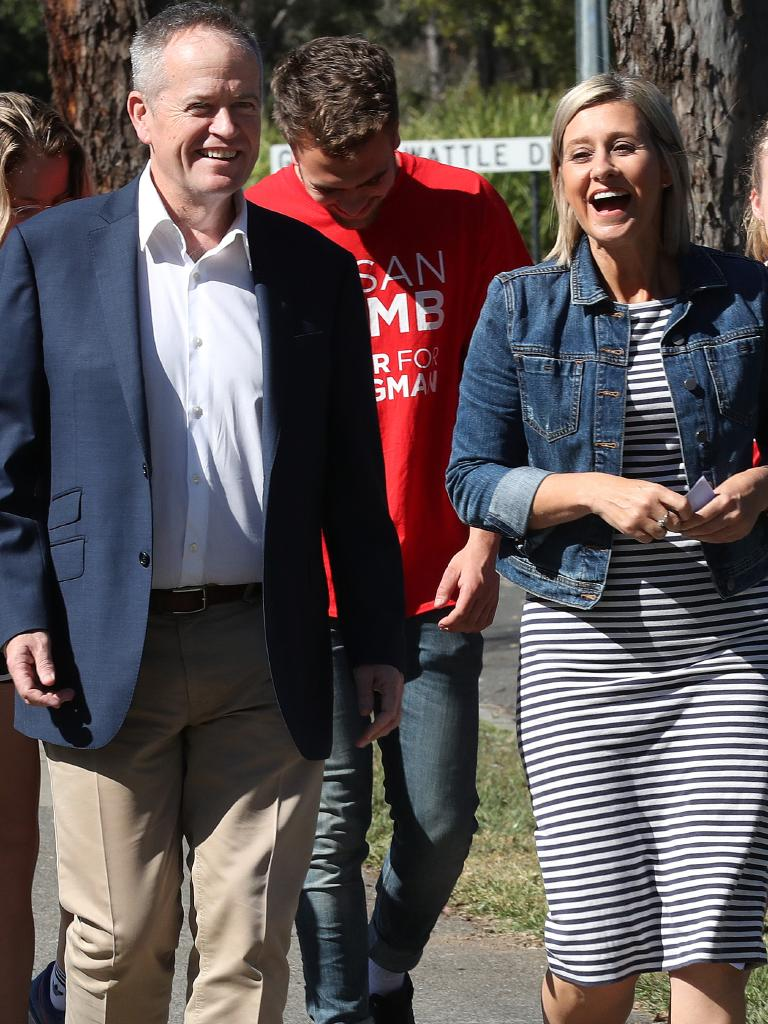 And, Bill Shorten also lends his support to Susan Lamb. Picture: Liam Kidston