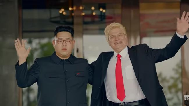 K-Pop music video takes on Trump-Kim summit. Picture: Youtube