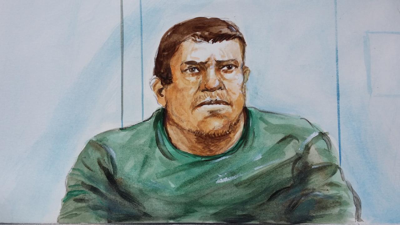 Daniel Holdom at Maitland court. Illustration: Bernd Heinrich