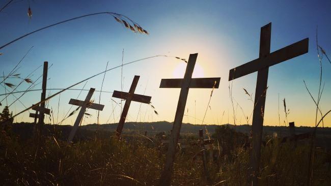 A plaasmoorde (farm murders) memorial near Polokwane. Picture: Greg Nelson
