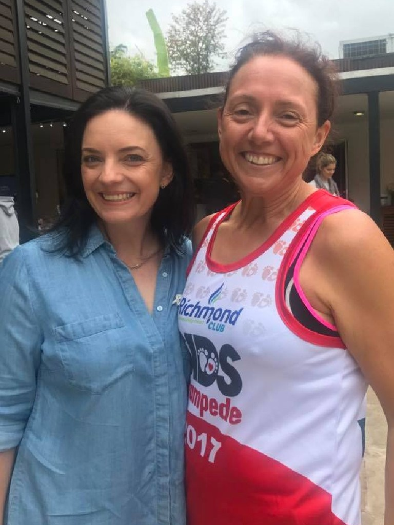 Labor MP Emma Husar and Penrith Chief Inspector Tracy Stone in October last year. Picture: Facebook