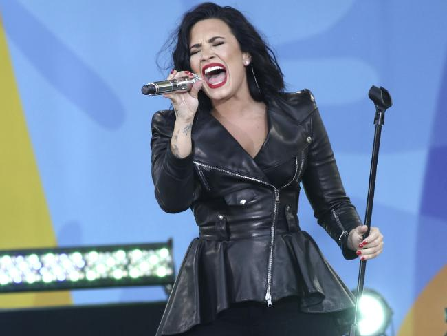Lovato indicated in a new song released last month that she had relapsed after six years of sobriety. Picture: AP