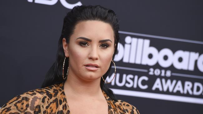 Demi Lovato remains in LA hospital after suffering 'complications' following overdose. Picture: AP