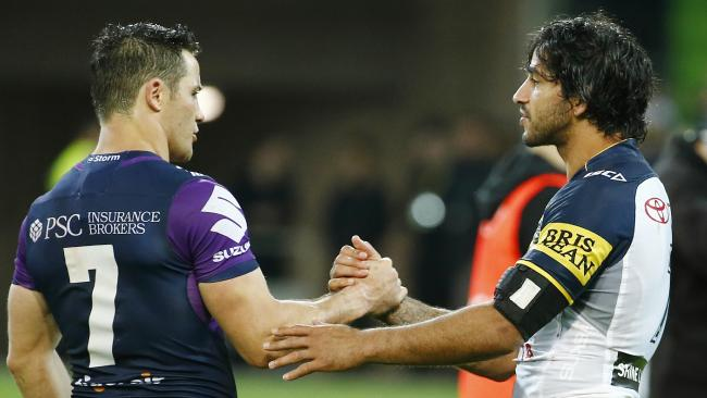 There is plenty of love between Cronk and JT. (Michael Klein)