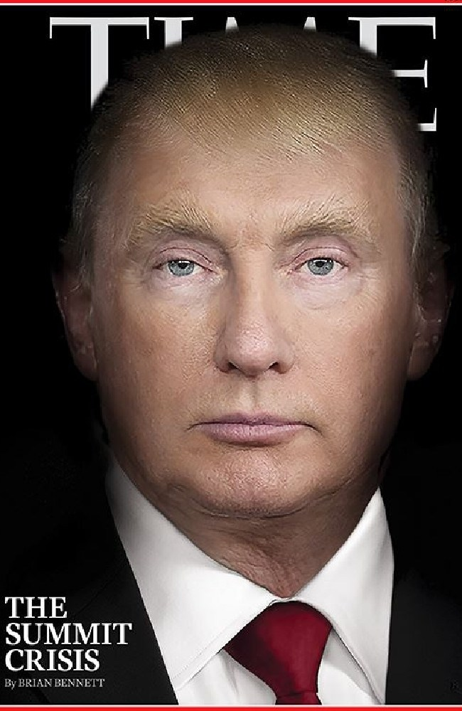 TIME magazine's provocative cover shows Donald Trump morphing into Vladimir Putin.
