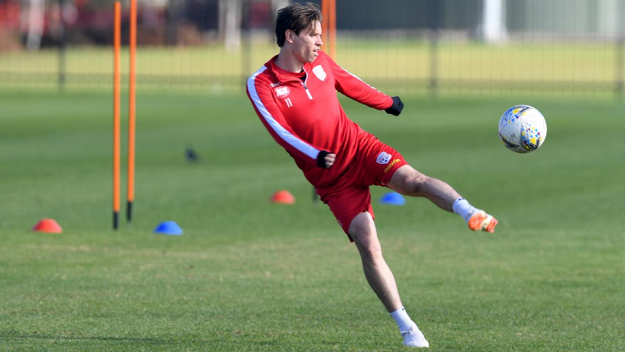 Adelaide United's Craig Goodwin is back in Australia for the first time since 2016.