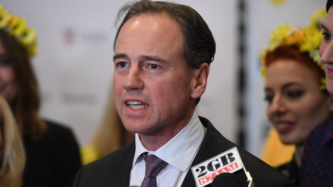 Federal Health Minister Greg Hunt at the Royal Hospital for Women in Sydney today.