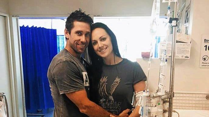 HELP: Heidi Pringle, who has months of chemotherapy ahead of her, pictured with fiancé Lincoln Driver.