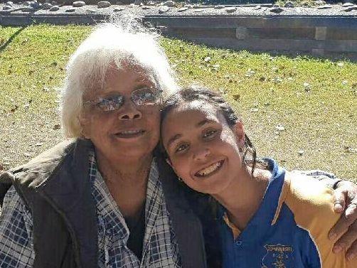 LITERARY TALENT: Young writer Seremi Gorogo Rawson with her grandmother Robyn Bancroft.