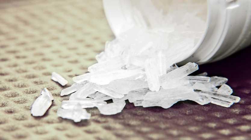 Police allegedly found 500g of methamphetamine.
