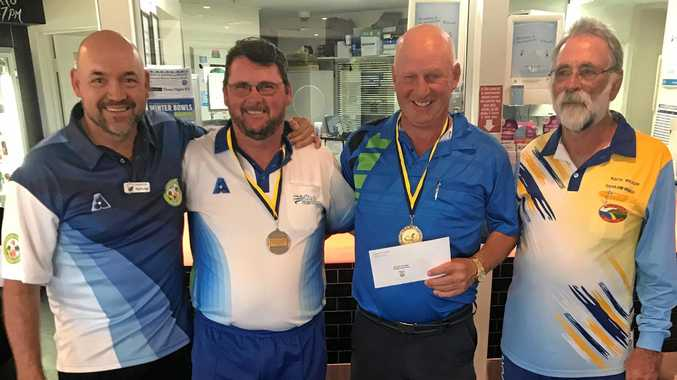 WINNERS:Paul Henricks with Winners Michael Sorrensen & Allan Newman & Coolum President Keith Wilson.