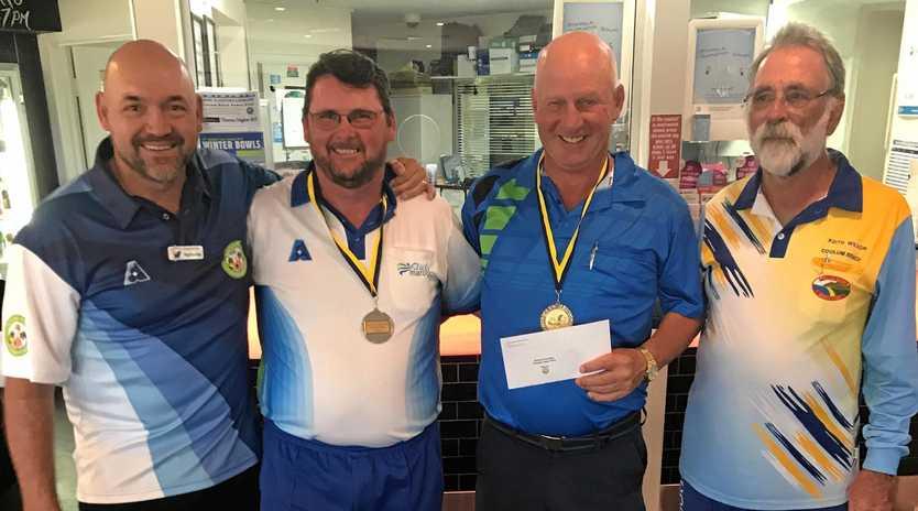 WINNERS:Paul Henricks with Winners Michael Sorrensen & Allan Newman & Coolum President Keith Wilson.