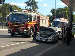 Crash banks up traffic near Fitzroy Bridge