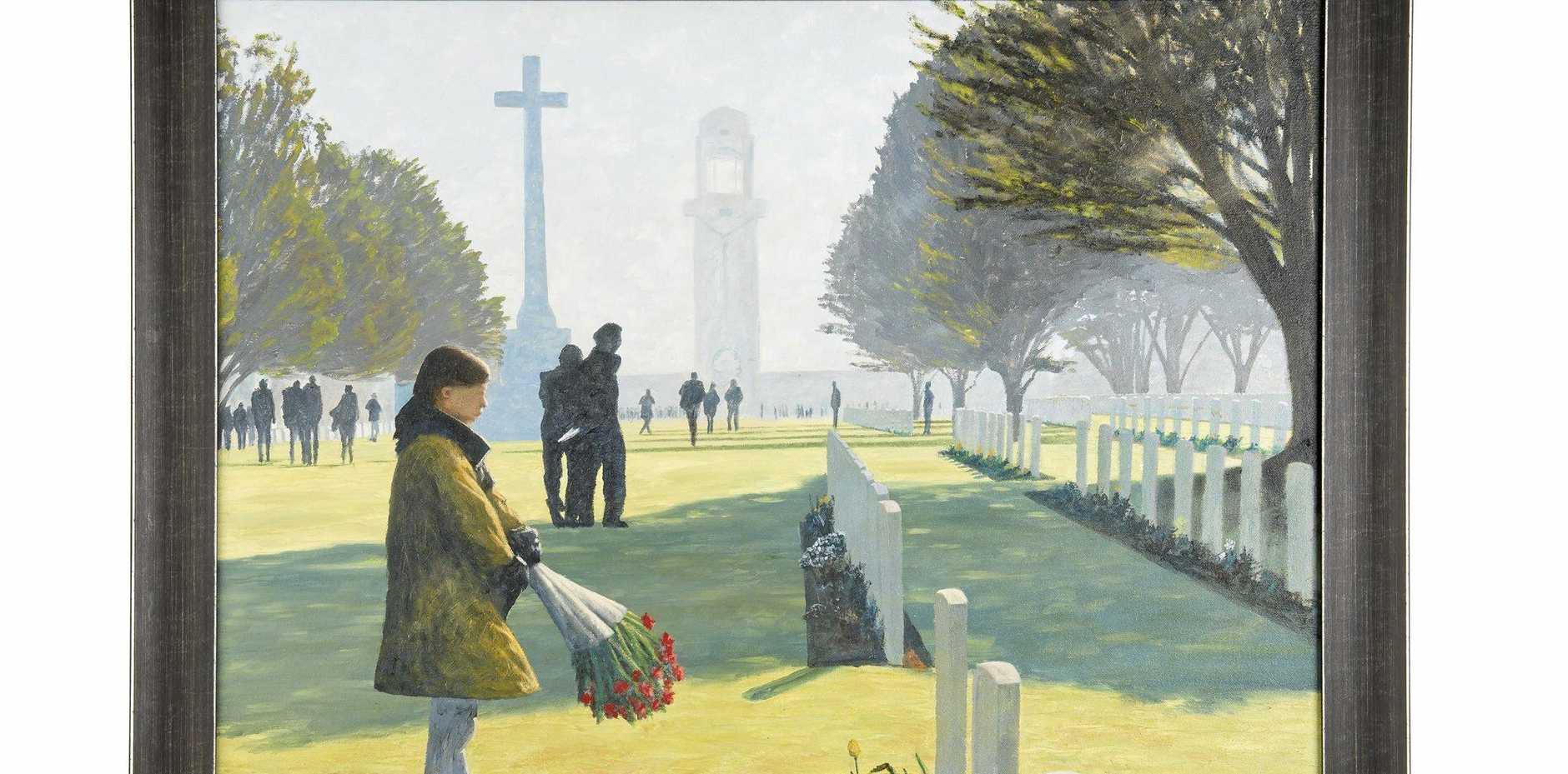 Garry DOLAN / Villers-Bretonneux 2015 / Watercolour on canvas / 78 Ã-- 62cm