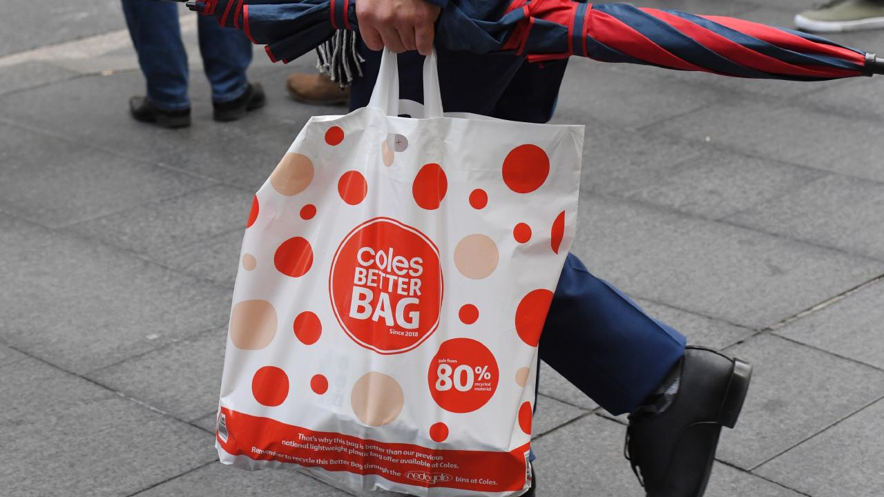 "Coles' ""better bags"" aren't better if they are used only once. Picture: AAP Image/Peter RAE."