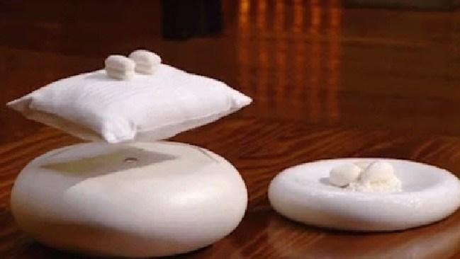 MasterChef's impressive 'floating pillow' dessert.
