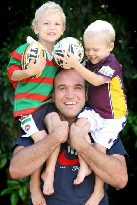 Tallis with sons Ethan and Jackson 10 years ago.