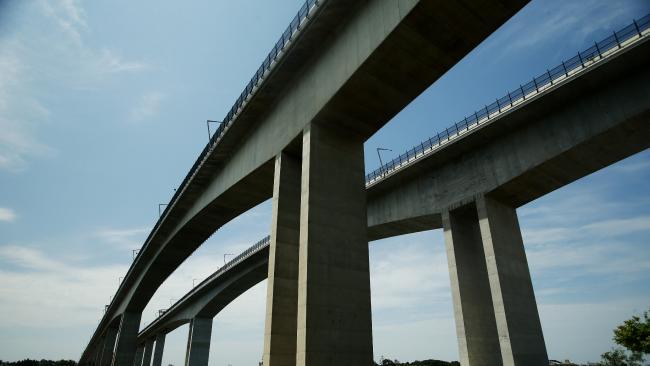 The Sir Leo Hielscher bridges on the M1 Gateway Motorway