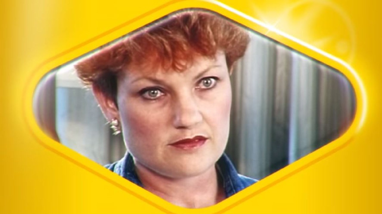 Pauline Hanson features at the start of Vegemite's latest advertising campaign, asking: