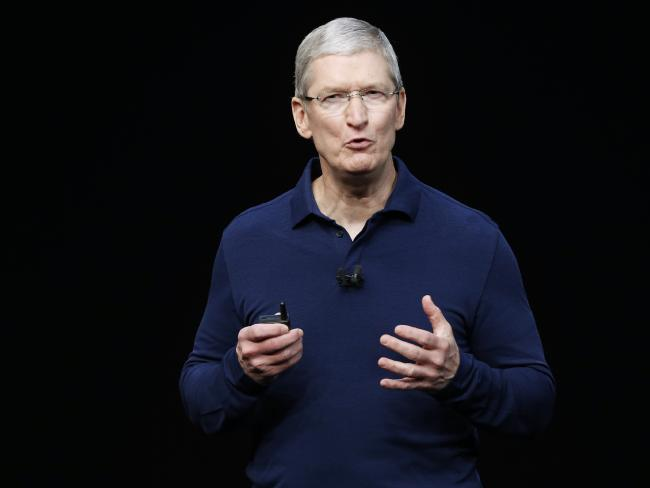 Apple Inc CEO Tim Cook. Picture: Beck Diefenbach