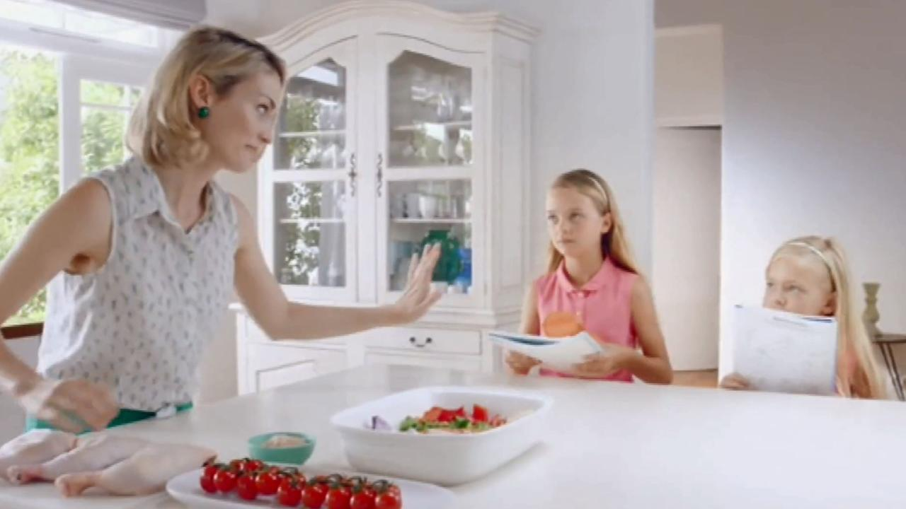 "Ad agencies have been warned they will be reprimanded for ""discrimination or vilification"" if they feature ""a woman cleaning the house"" such as in this Dettol disinfectant wipes ad."