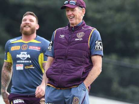 Wayne Bennett still has a kick in his step. Picture: Dave Hunt/AAP