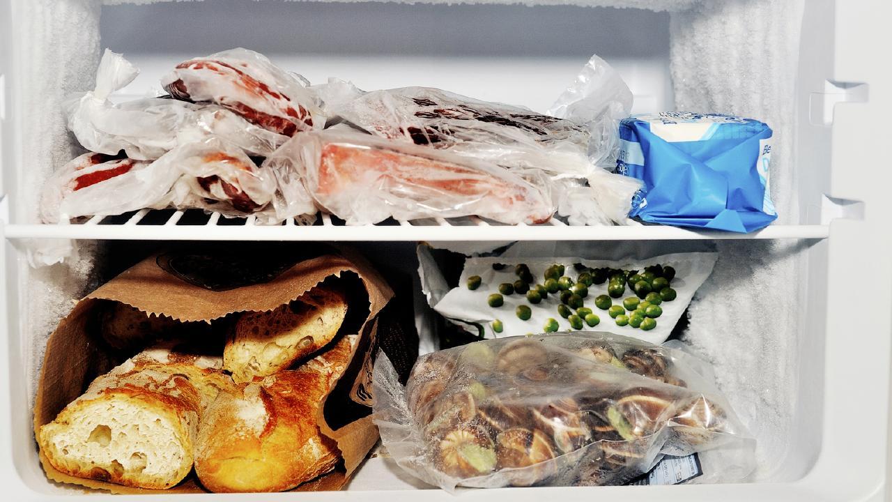 Freezer compartment of a refrigerator containing m