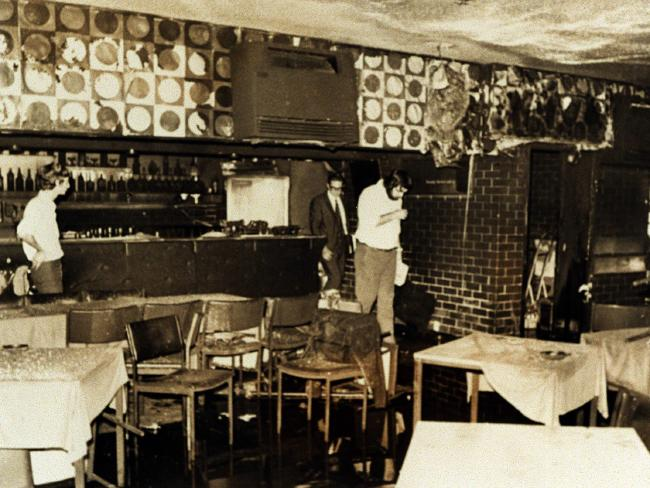 The interior of the Whiskey Au Go-Go after the blaze