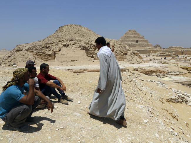More than 4000 years after they were built, the Pyramids are still helping us today. Picture: AP