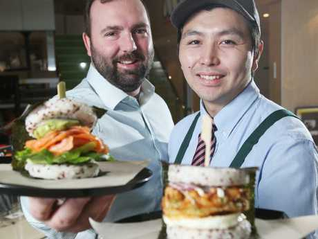 Japanese fast food giant Mos Burger like to do their buns a little differently. Picture: AAP/ Ric Frearson