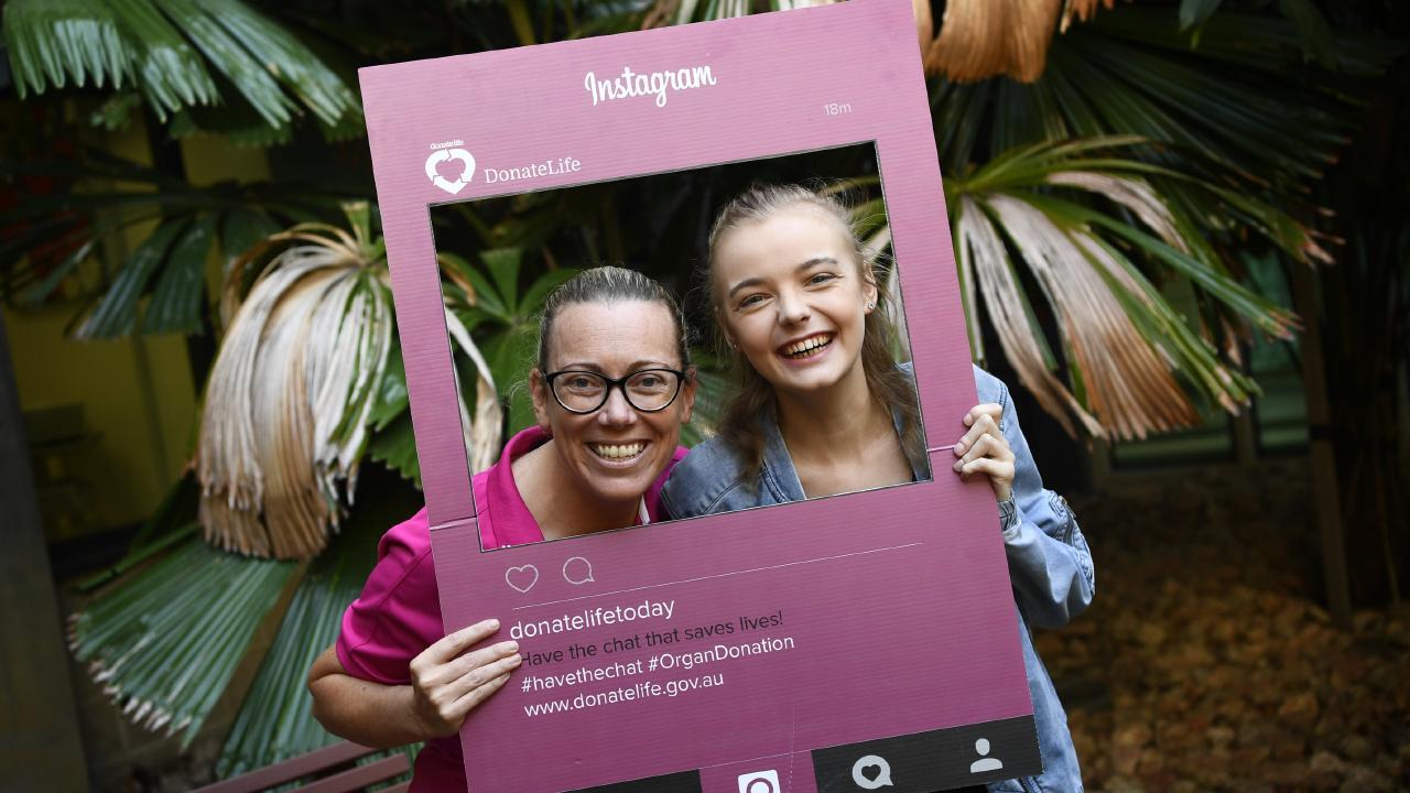 Donation specialist nurse co-ordinator Megan Baldwin and cystic fibrosis patient and transplant recipient Abigail Chase.