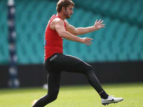 Alex Johnson during Sydney Swans training at the SCG. Picture. Phil Hillyard