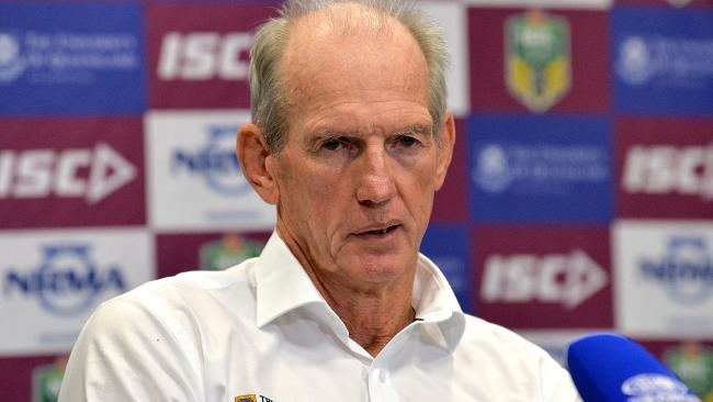Wayne Bennett hasn't been getting things all his own way at the Broncos. Picture: Bradley Kanaris/Getty Images