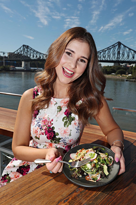 Larissa Hlinovsky watches her food intake. Picture: Annette Dew
