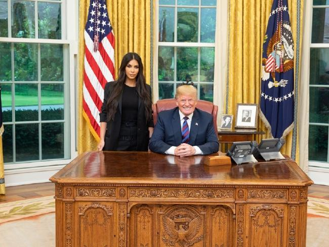 Kim Kardashian met with Donald Trump at the White House in May. Picture: Supplied