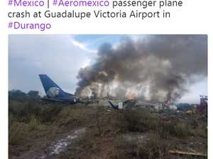 Mexican plane with 101 passengers crashes on takeoff