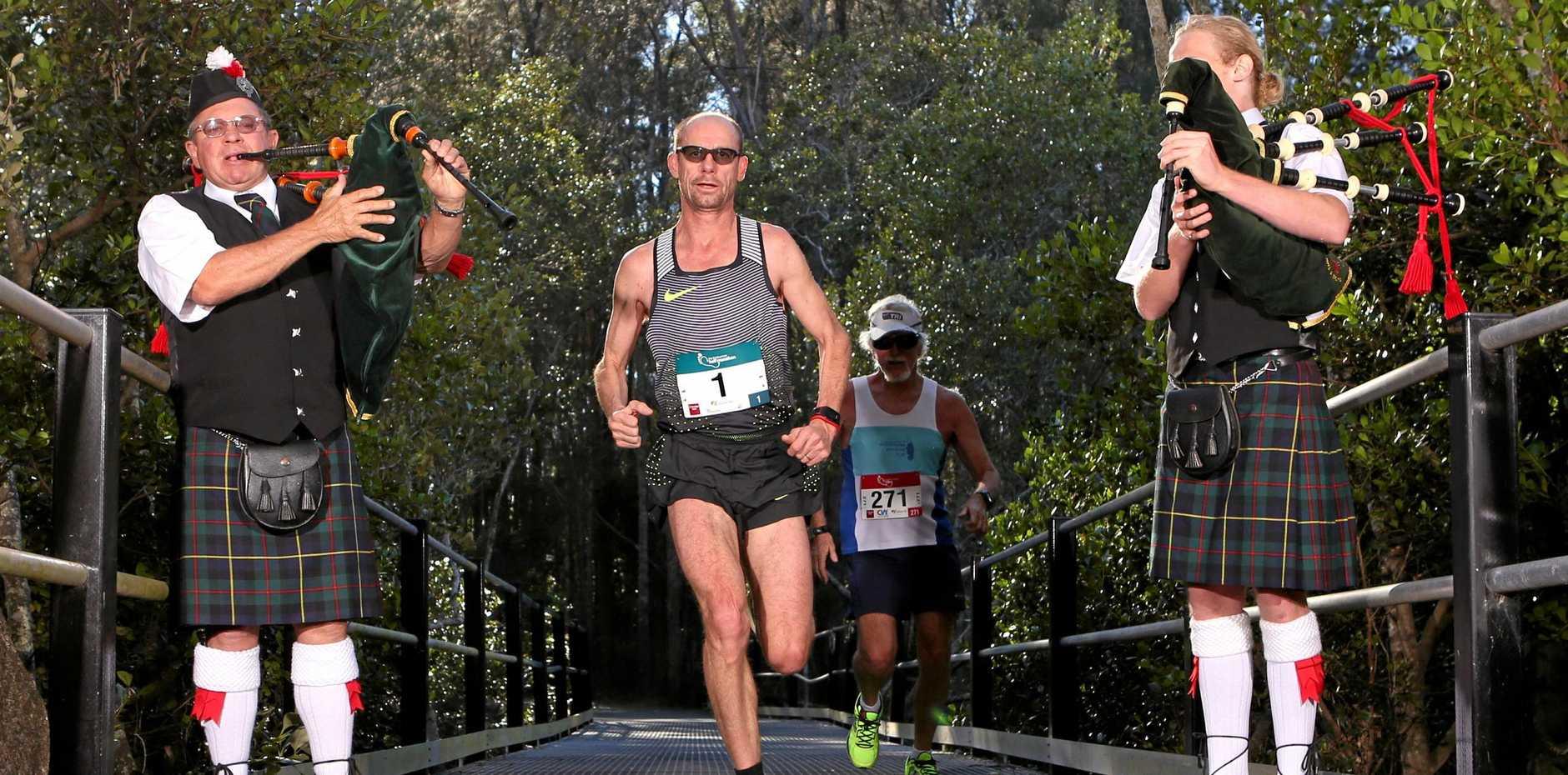 PIPERS PLAY: Steve Moneghetti returns for the 2018 Coffs Harbour Running Festival.