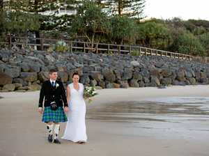Scottish pipes are calling newlyweds
