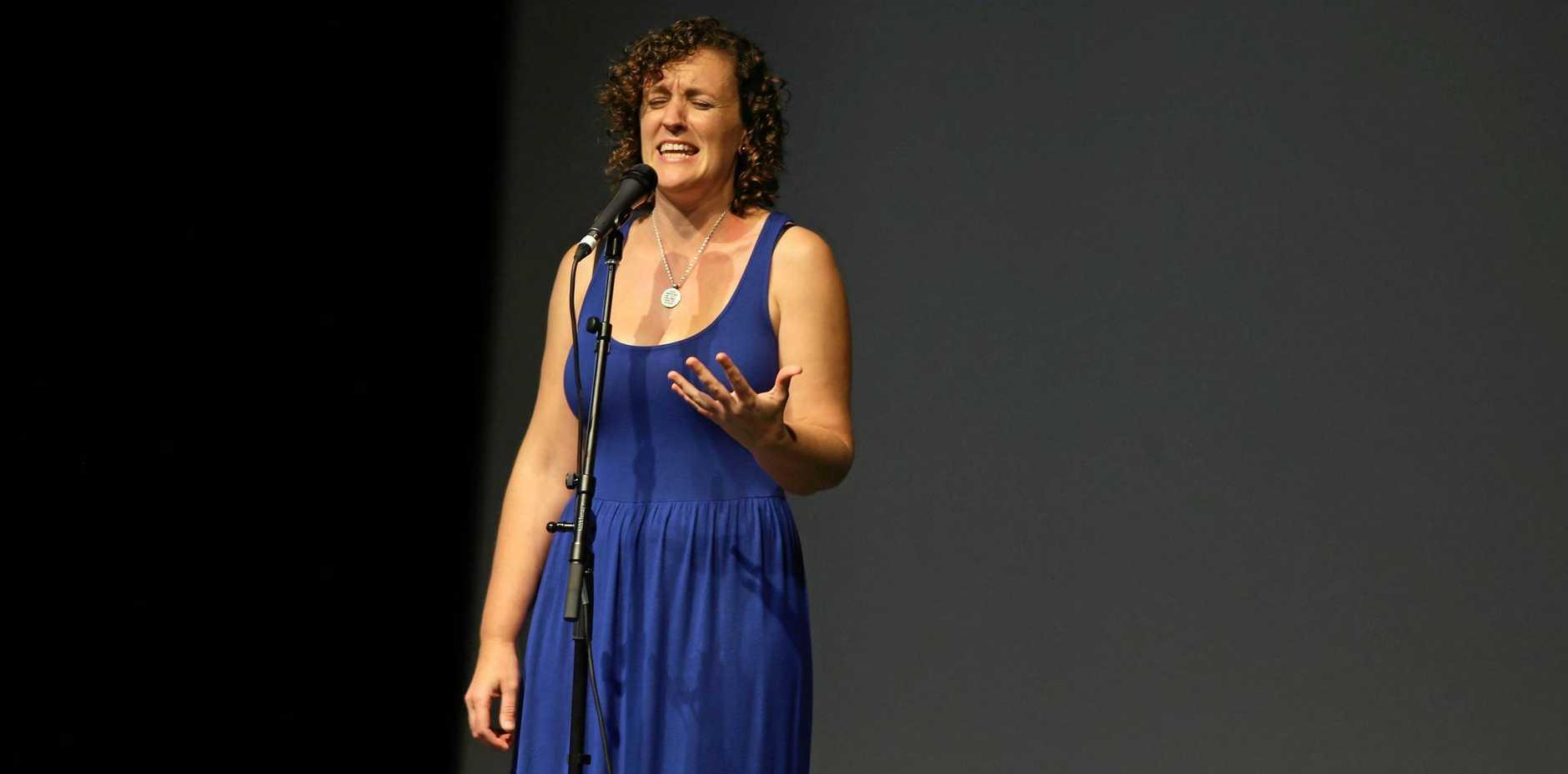HOSTING WORKSHOP: Gabriella Salmon will help contestants fine-tune their act.