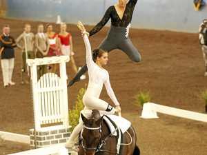 Gymnastics is hard enough, let alone doing it on horseback