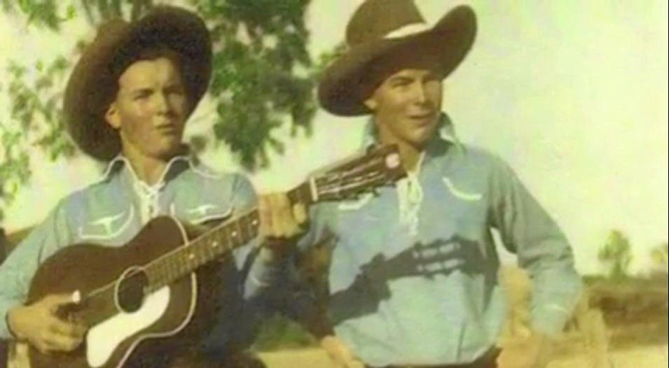 The LeGarde twins on their farm in Mackay as young boys.
